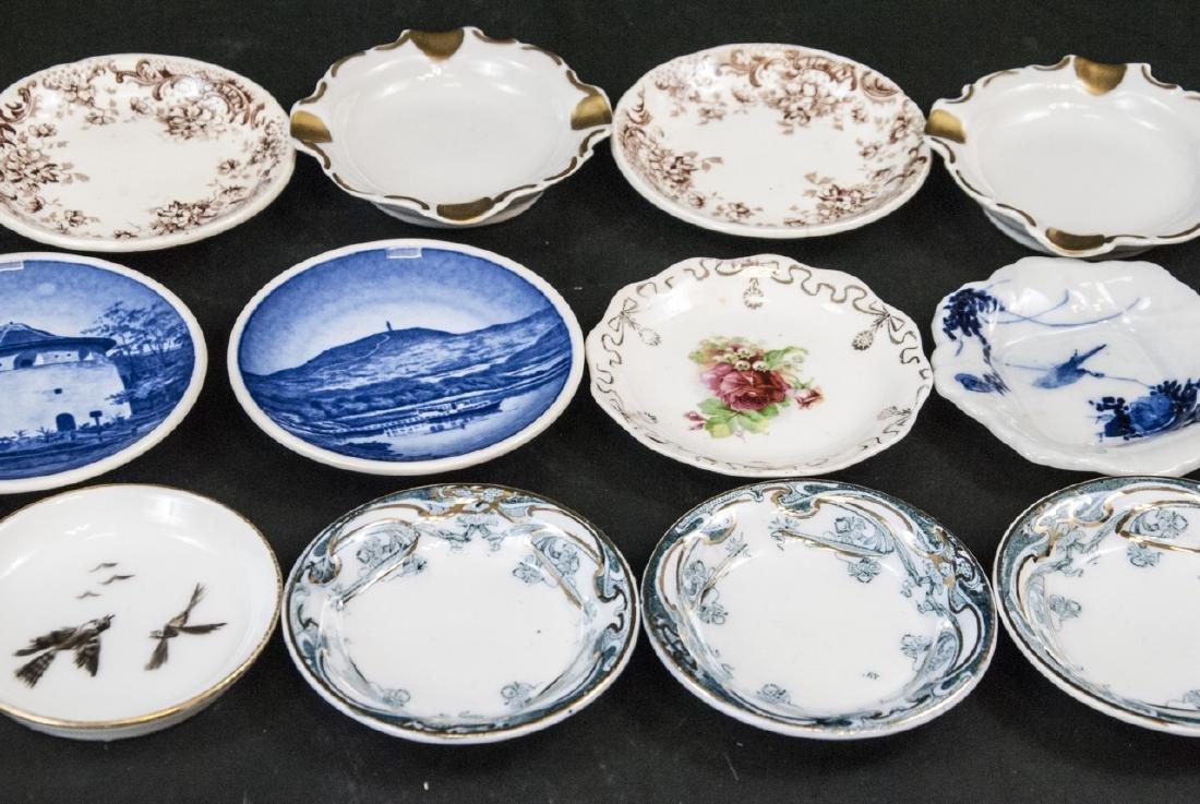 Lot Antique Miniature Porcelain Condiment Dishes - 4