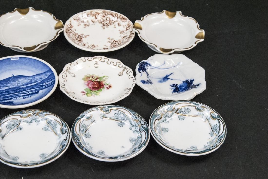 Lot Antique Miniature Porcelain Condiment Dishes - 5