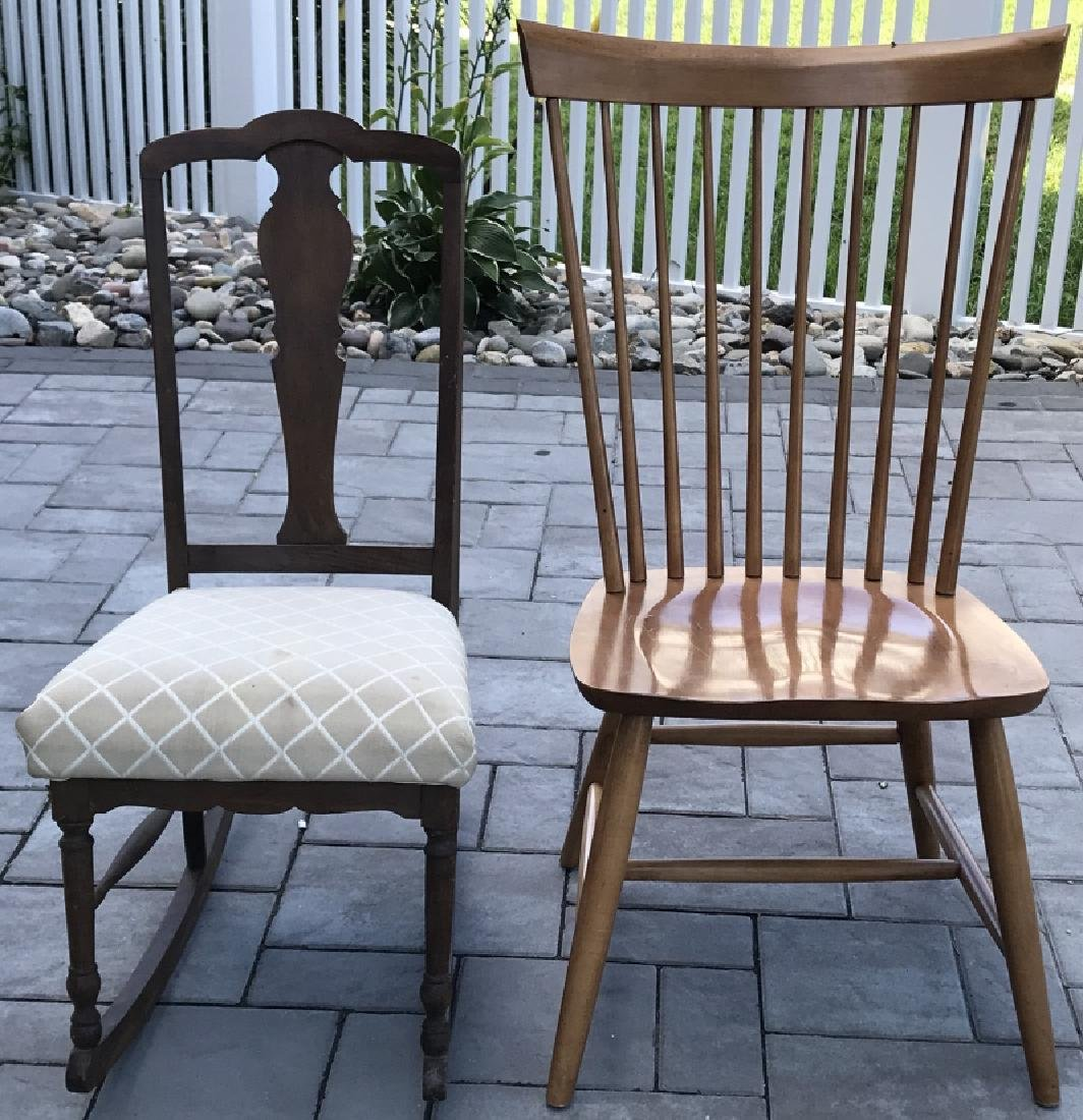 Antique Chippendale Rocking Chair & Windsor Chair
