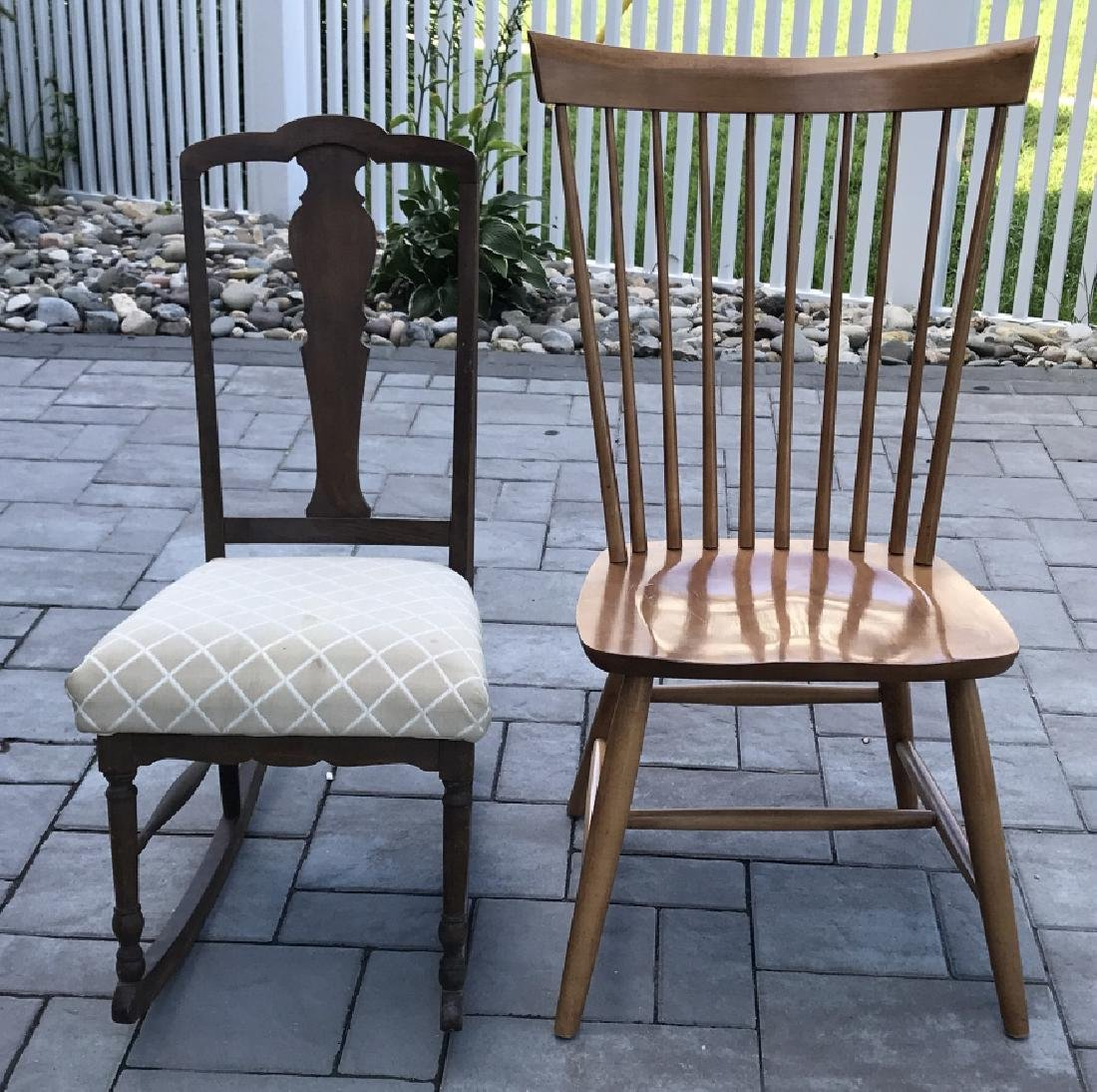 Antique Chippendale Rocking Chair & Windsor Chair - 3