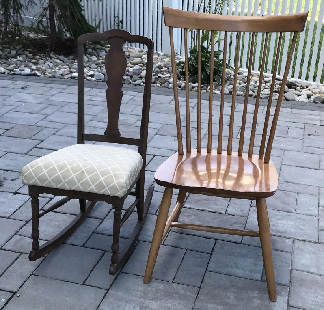 Antique Chippendale Rocking Chair & Windsor Chair - 4