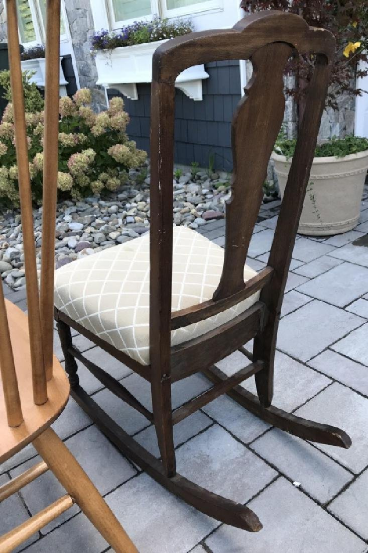 Antique Chippendale Rocking Chair & Windsor Chair - 7