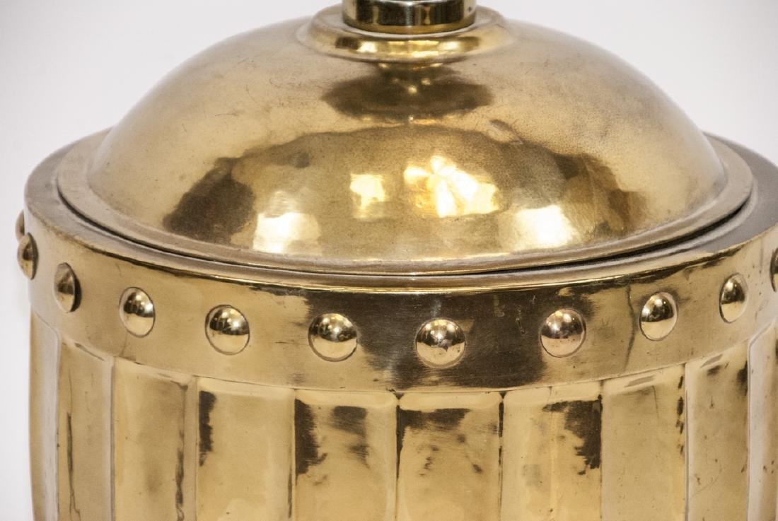Large Contemporary Hammered Metal Table Lamp - 4