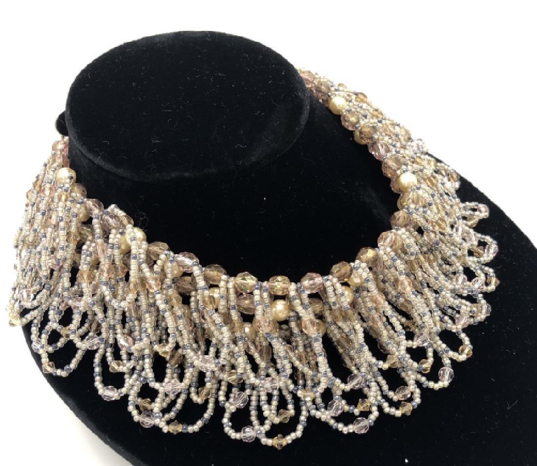 Vintage Erickson Costume Jewelry Beaded Necklace