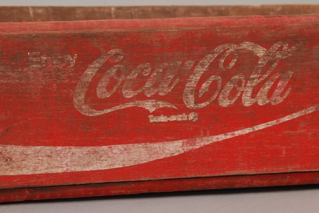 Antique Coca Cola Wooden Crate for Bottles - 5