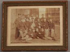 Antique 19th C Photograph Military Soldiers w Dog