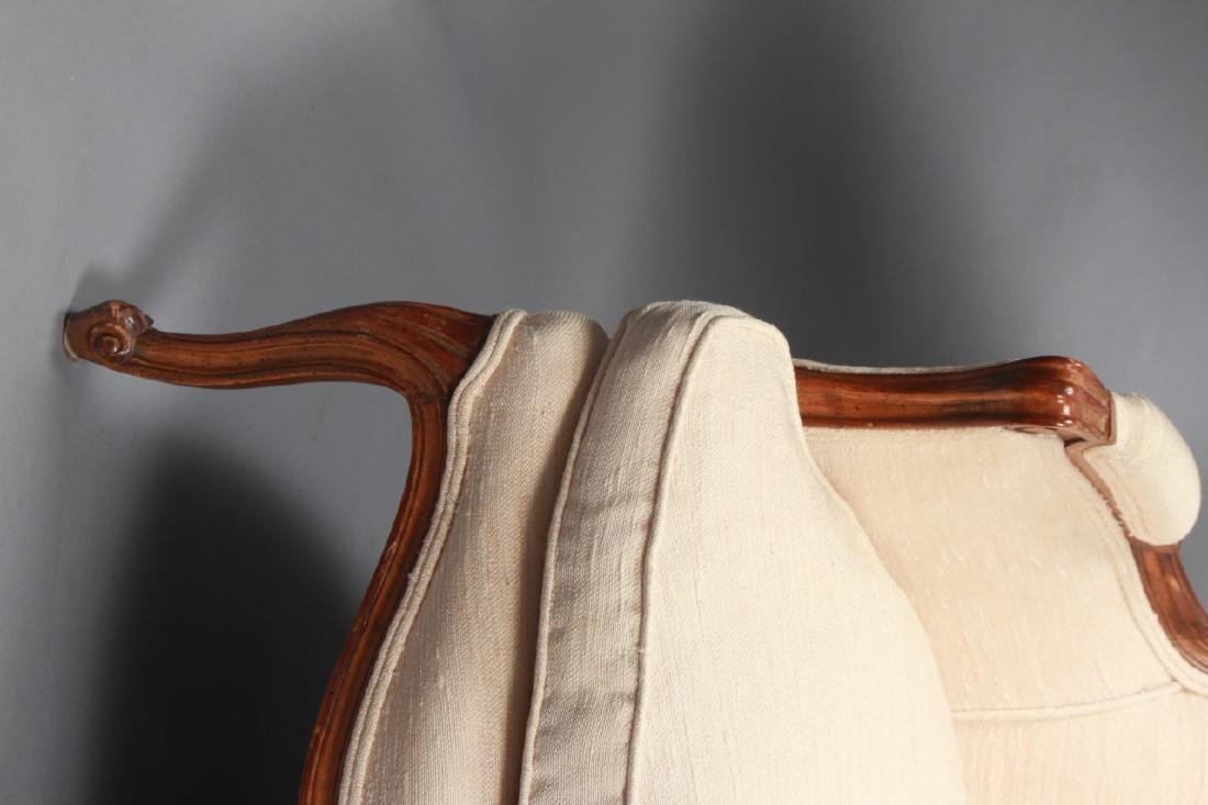 Pair French Louis XV Style Upholstered Arm Chairs - 3