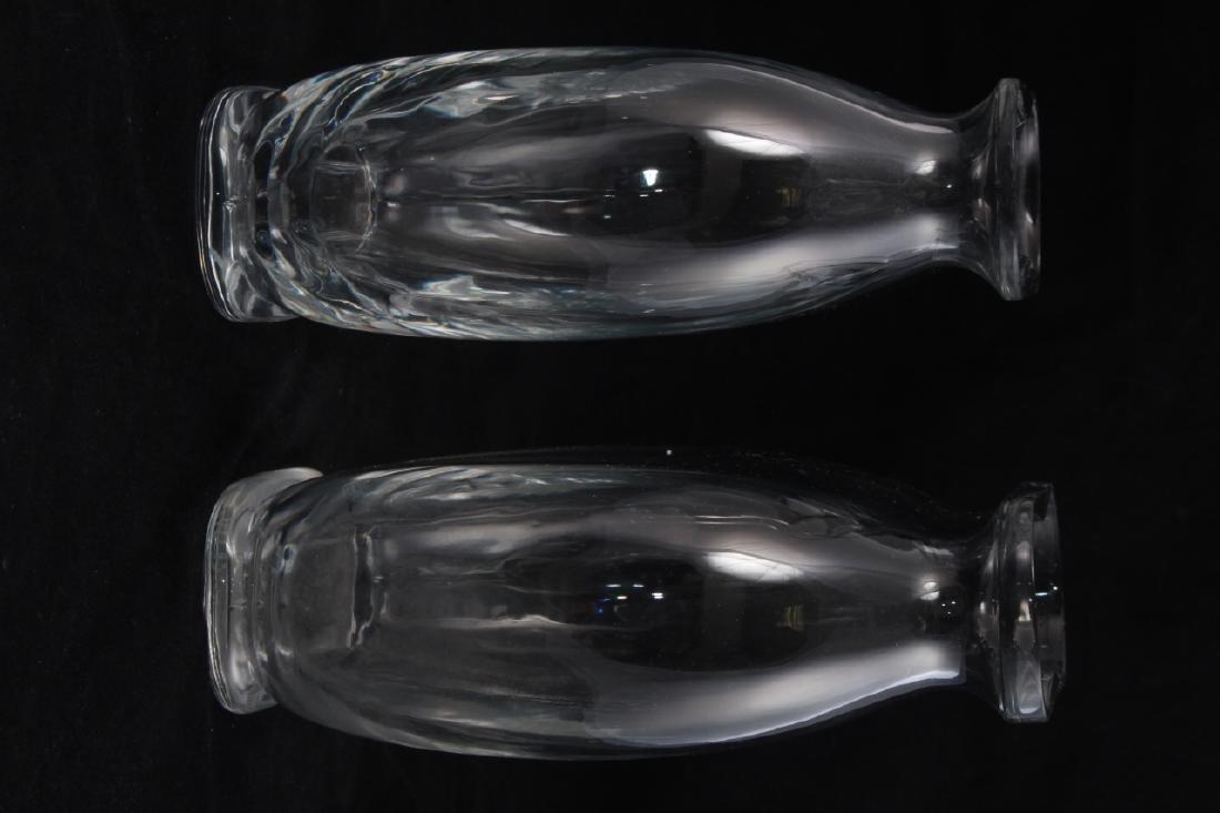 Pair Baccarat France Crystal Fish Bowl Vases - 2