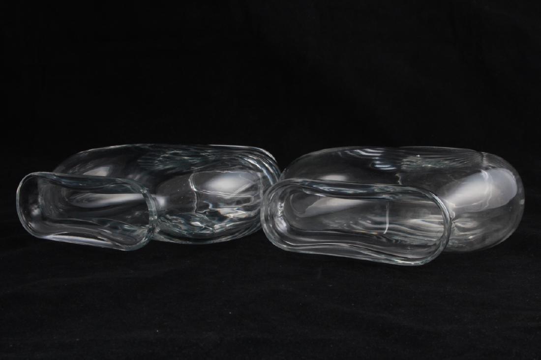 Pair Baccarat France Crystal Fish Bowl Vases - 3