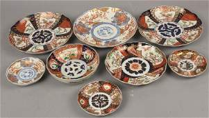 Collection of Japanese Imari Porcelain Plates