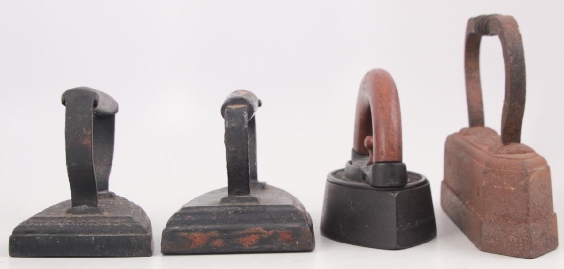 4 Antique Cast Iron Sad Irons