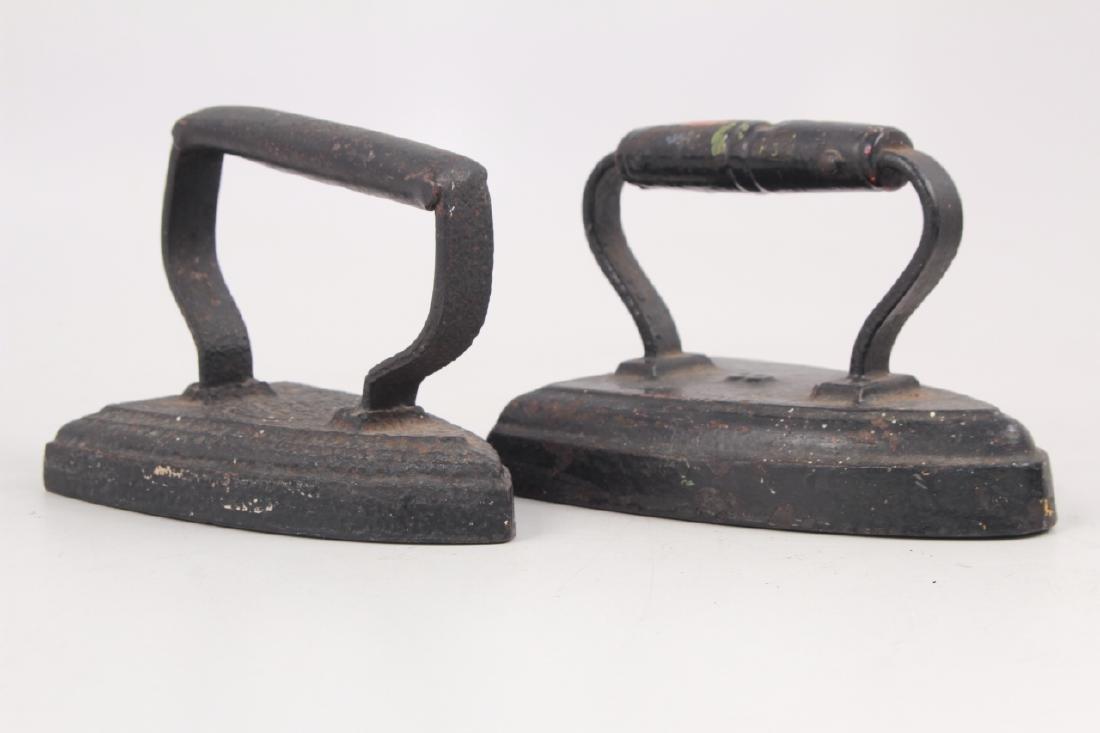 4 Antique Cast Iron Sad Irons - 5