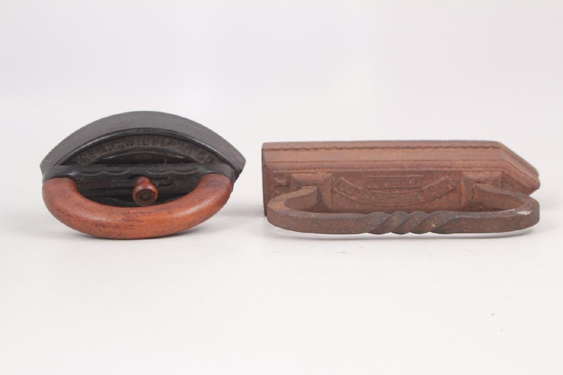 4 Antique Cast Iron Sad Irons - 6