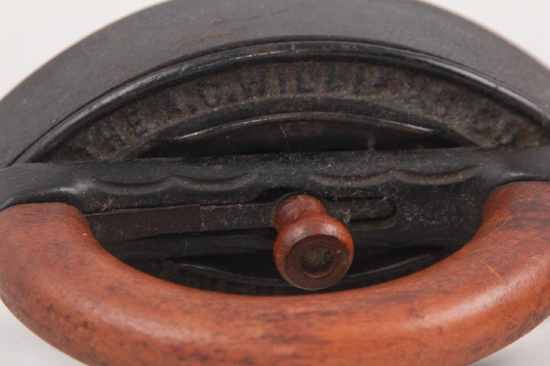 4 Antique Cast Iron Sad Irons - 7