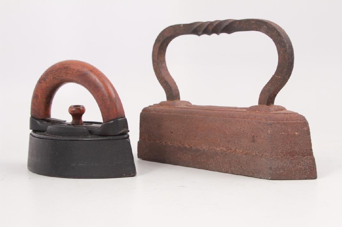 4 Antique Cast Iron Sad Irons - 9