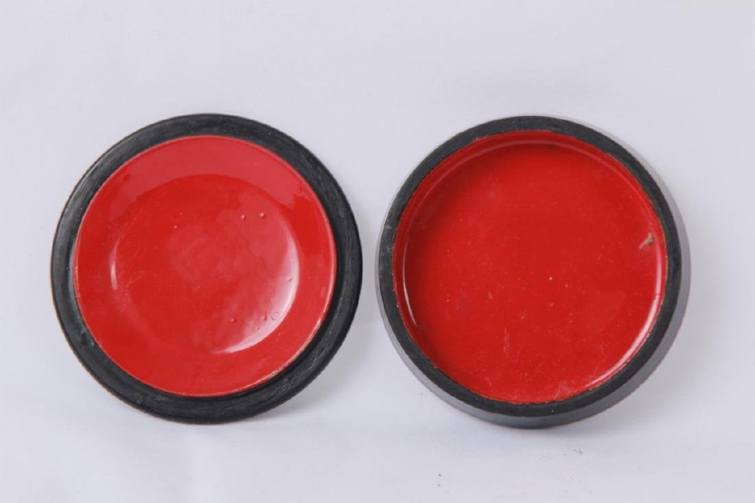 Hand Painted Russian Lacquer Snuff or Pill Box - 3