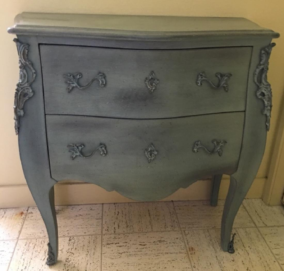 French Provincial Style Bombe Chest