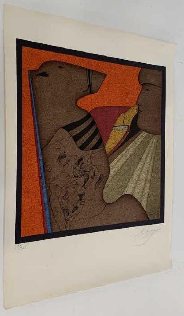 M. Ctelike Pencil Signed Modernist Lithograph