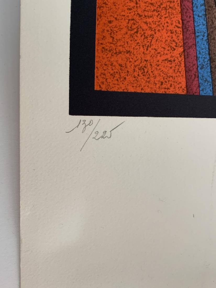 M. Ctelike Pencil Signed Modernist Lithograph - 3
