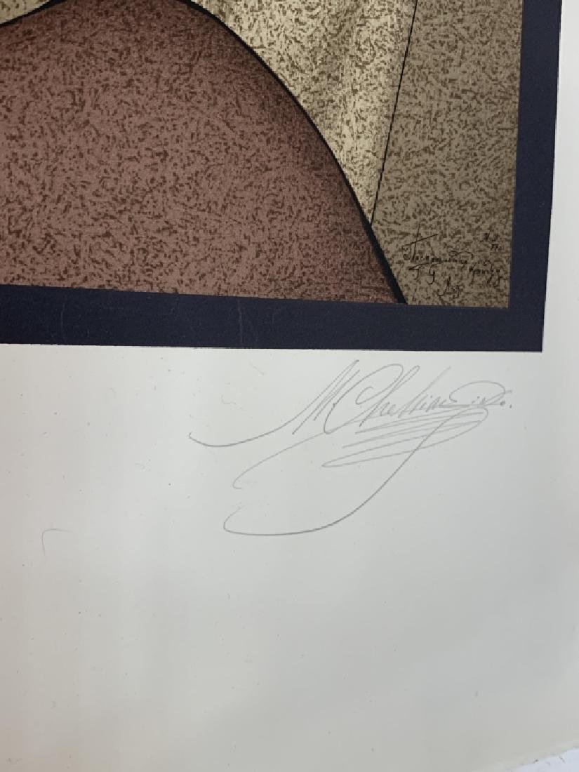 M. Ctelike Pencil Signed Modernist Lithograph - 4