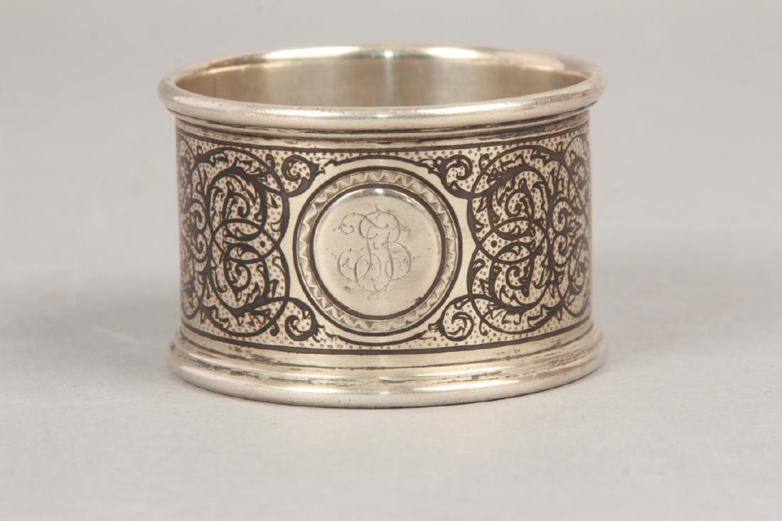 3 19th C Russian Silver Niello Serve Ware Pieces - 2
