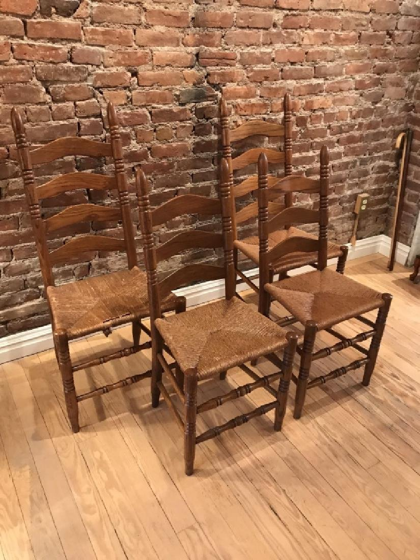 French Provencal Style Kitchen Dining Room Chairs - 3