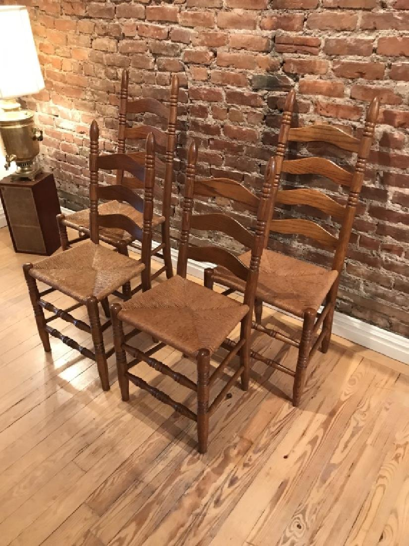 French Provencal Style Kitchen Dining Room Chairs - 4