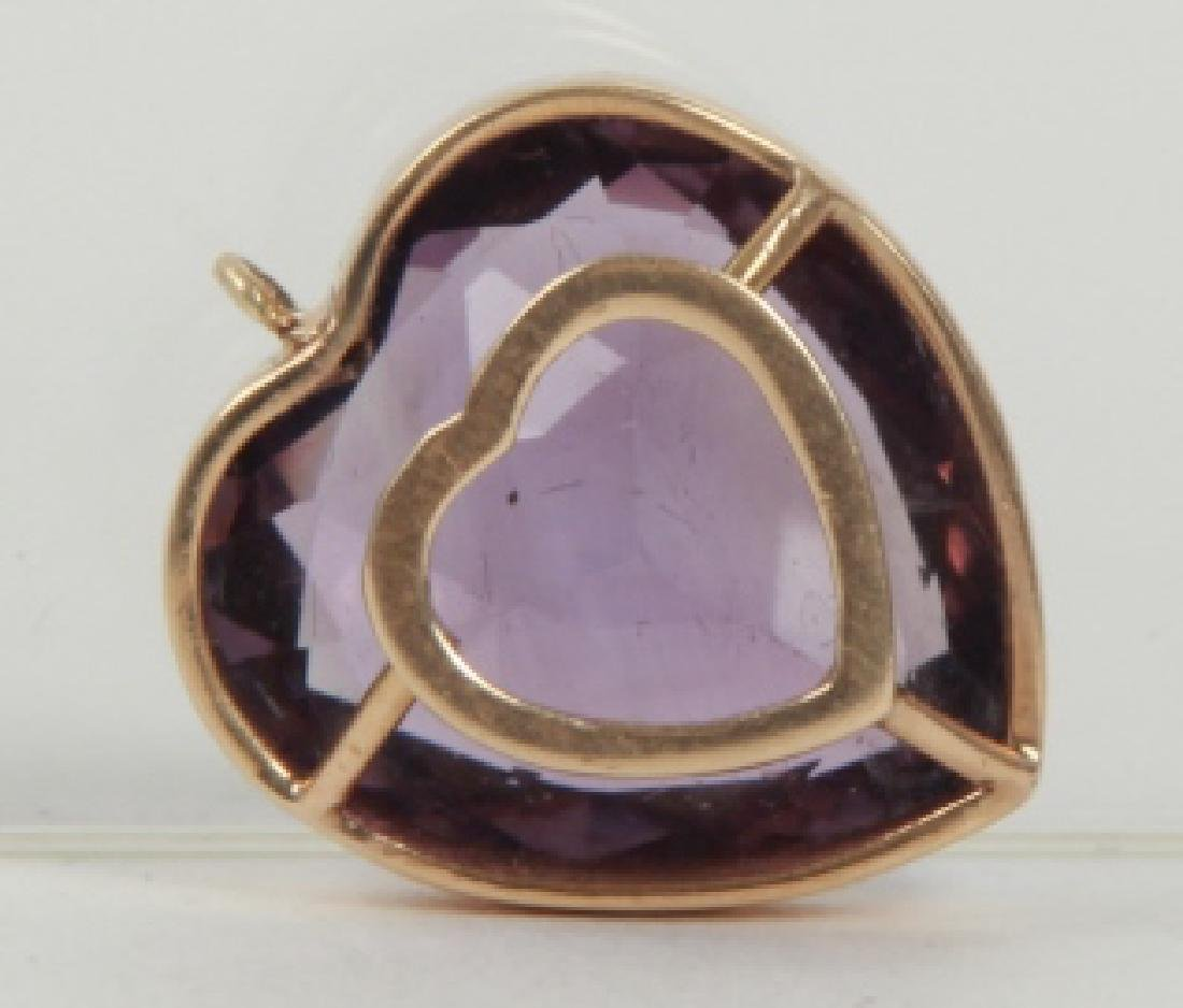 Estate 14k Yellow Gold & 8 Carat Amethyst Pendant