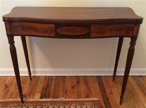 Brilliant Federal Style Mahogany Flip Top Console Table Gmtry Best Dining Table And Chair Ideas Images Gmtryco