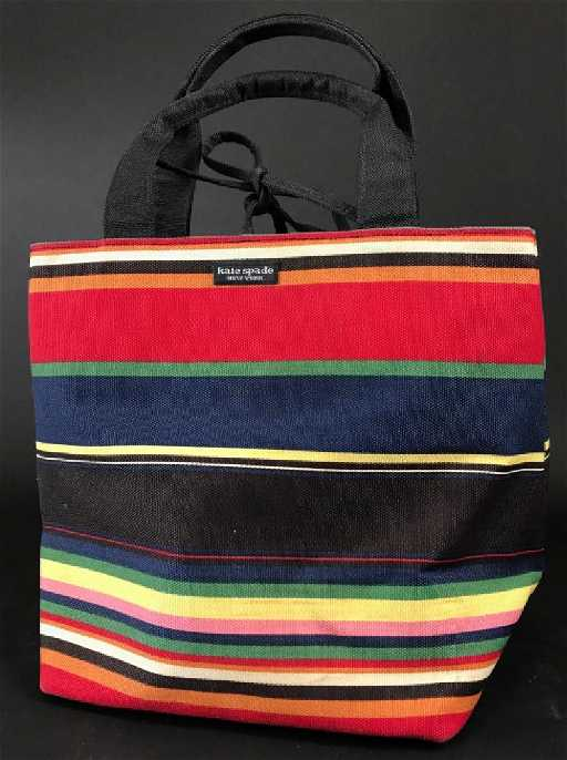 42725fa2a61d63 Vintage Kate Spade Striped Canvas Fall Tote. placeholder
