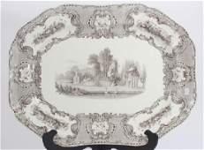 Antique 19th C Large English Ironstone Platter