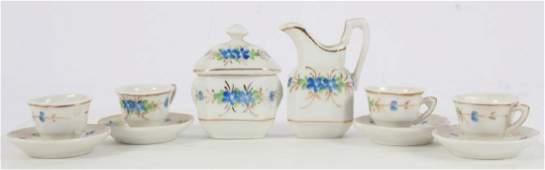 Antique French Doll or Dollhouse Porcelain Tea Set