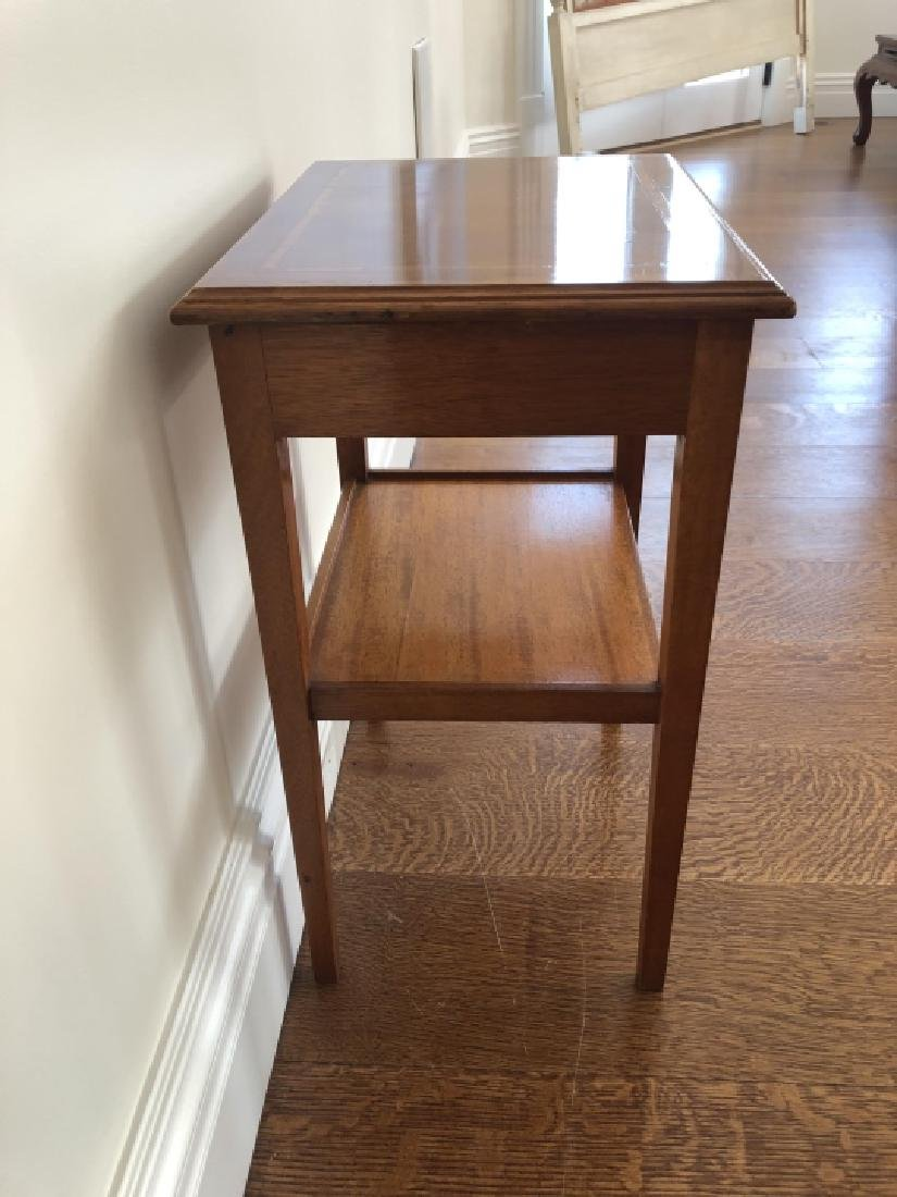 English Style Remploy Burled Oak End Table - 3