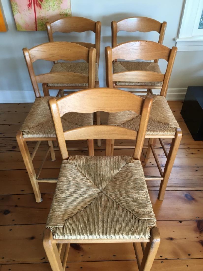5 Contemporary Rush Seat Bar Stools - 3