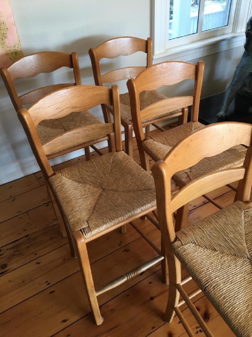 5 Contemporary Rush Seat Bar Stools - 4