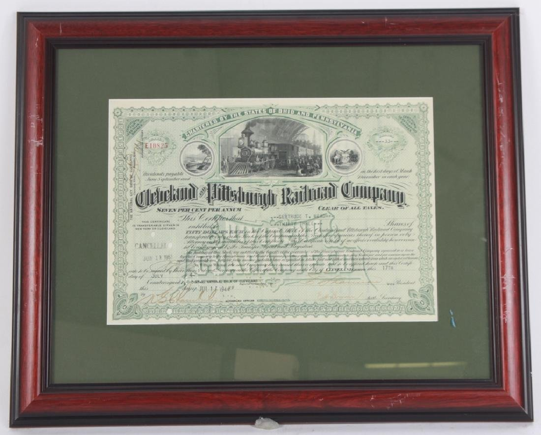 1944Cleveland Pittsburg Railroad Stock Certificate