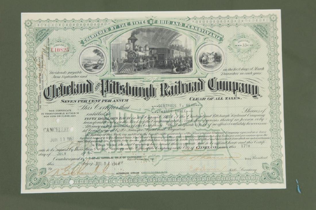 1944Cleveland Pittsburg Railroad Stock Certificate - 2