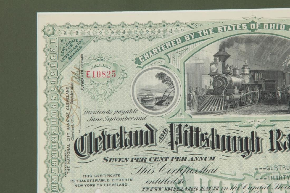 1944Cleveland Pittsburg Railroad Stock Certificate - 5