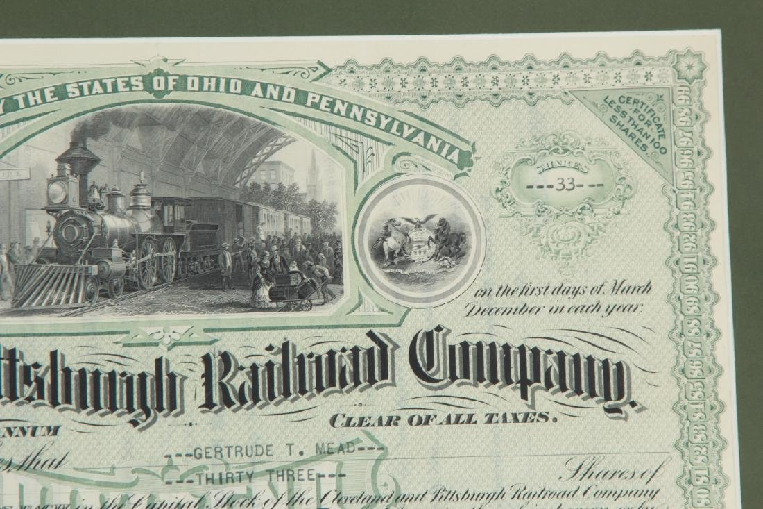 1944Cleveland Pittsburg Railroad Stock Certificate - 6