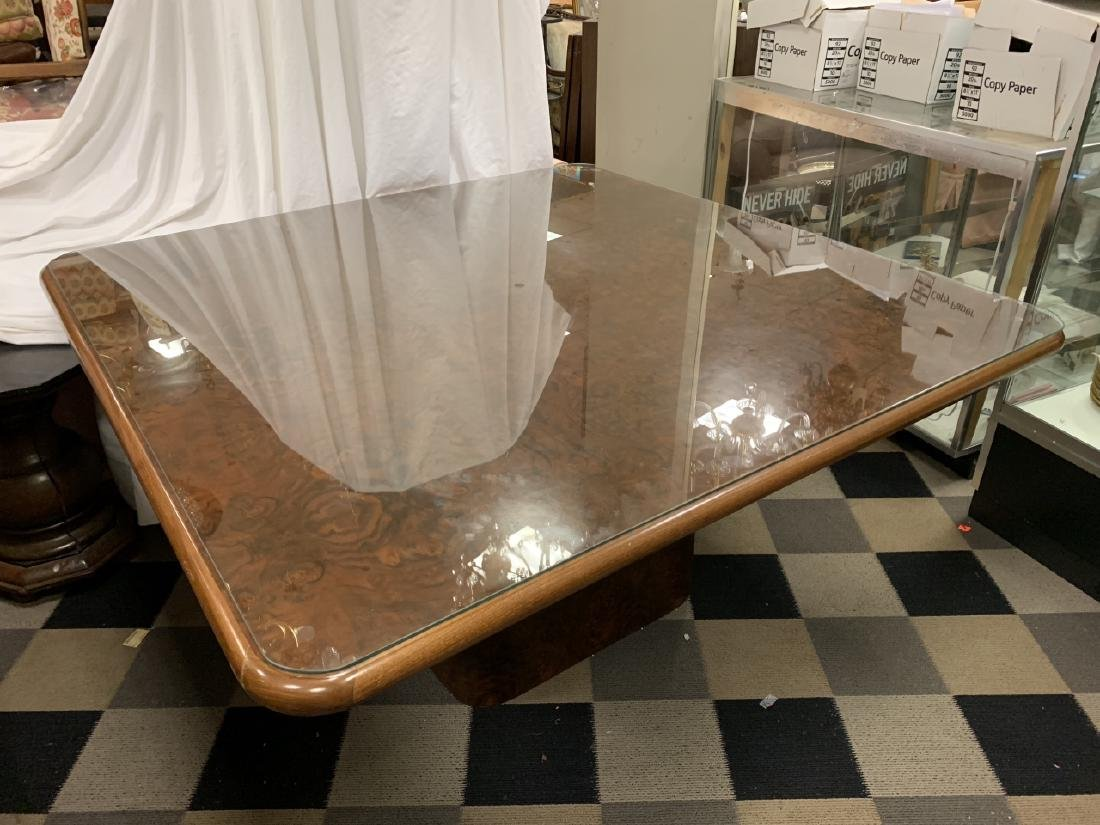 Custom Parsons Style Burled Wood Dining Table - 6