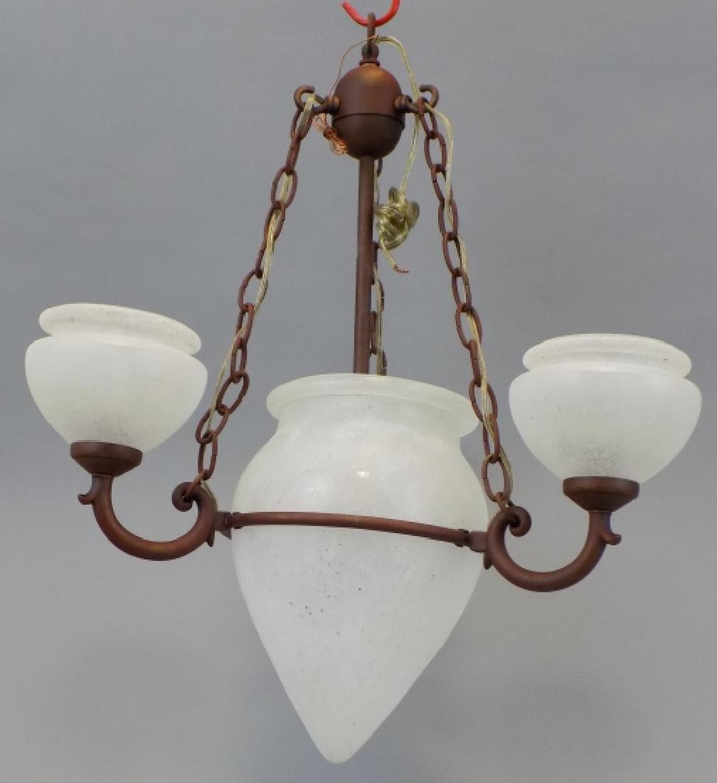 Murano Glass Contemporary Wrought Iron Chandelier