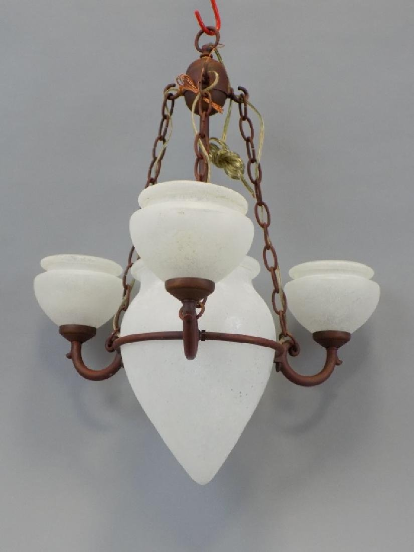 Murano Glass Contemporary Wrought Iron Chandelier - 3