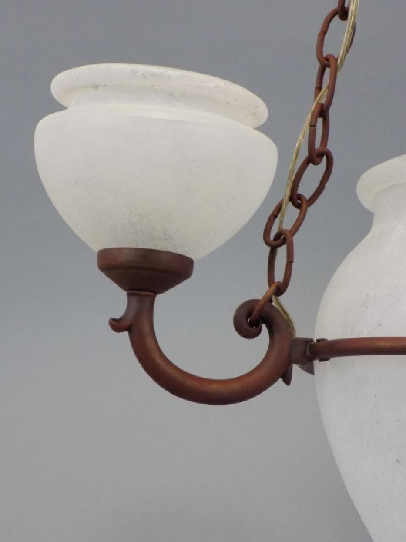 Murano Glass Contemporary Wrought Iron Chandelier - 4