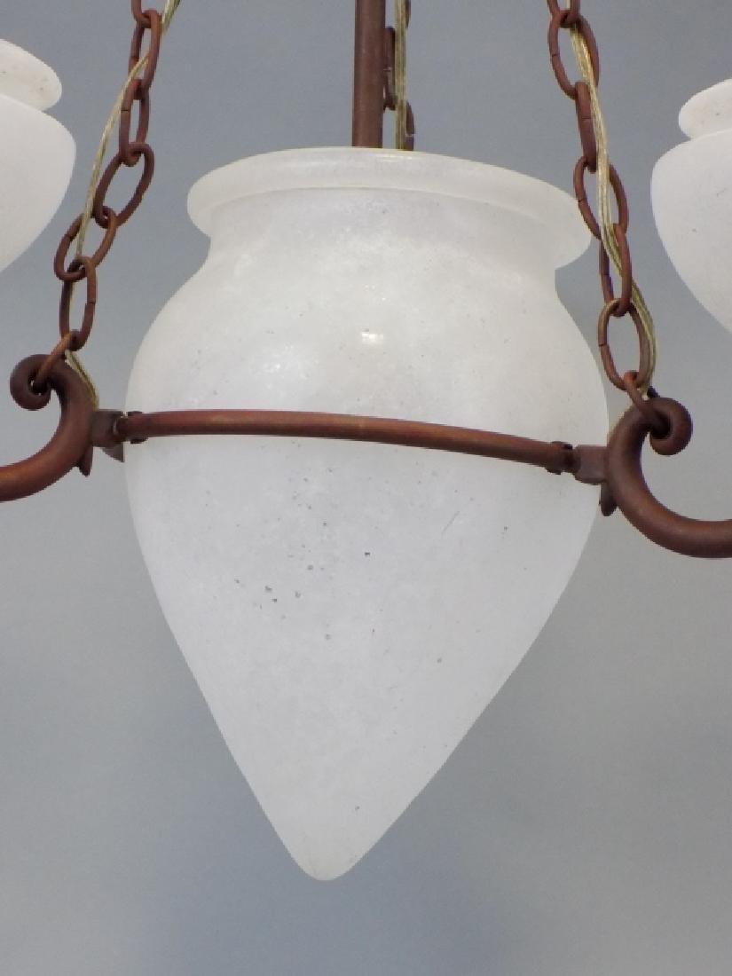 Murano Glass Contemporary Wrought Iron Chandelier - 5