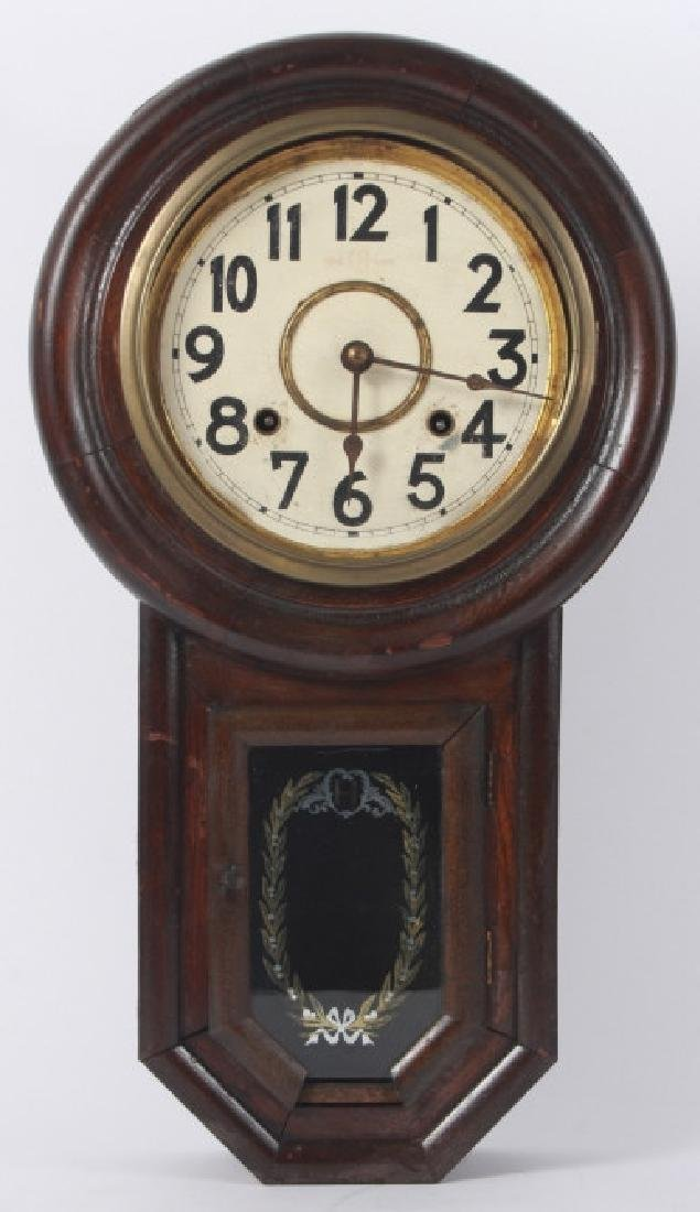 Fukuro Japanese Wooden Case Wall Clock