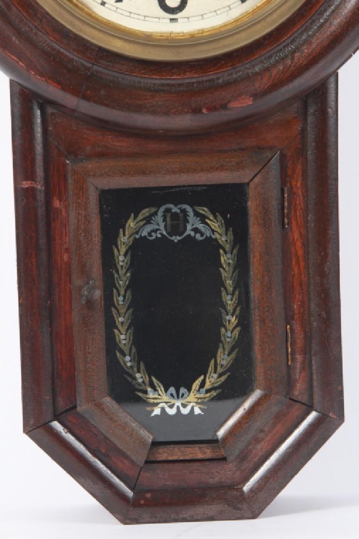 Fukuro Japanese Wooden Case Wall Clock - 5