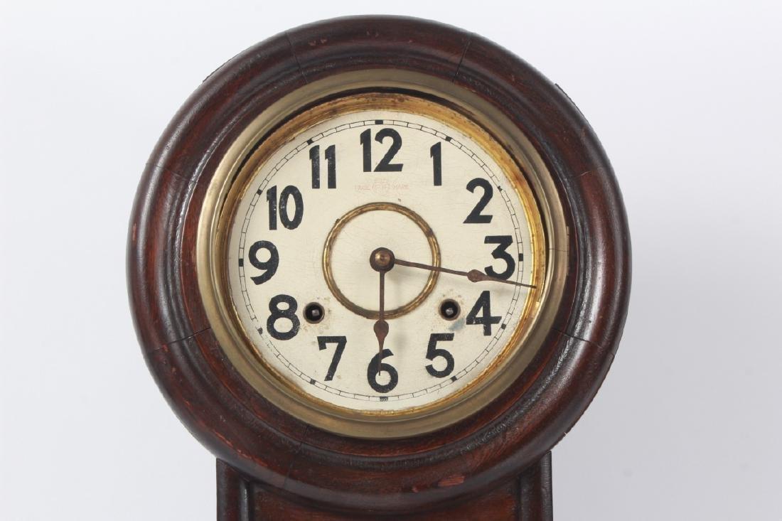 Fukuro Japanese Wooden Case Wall Clock - 7