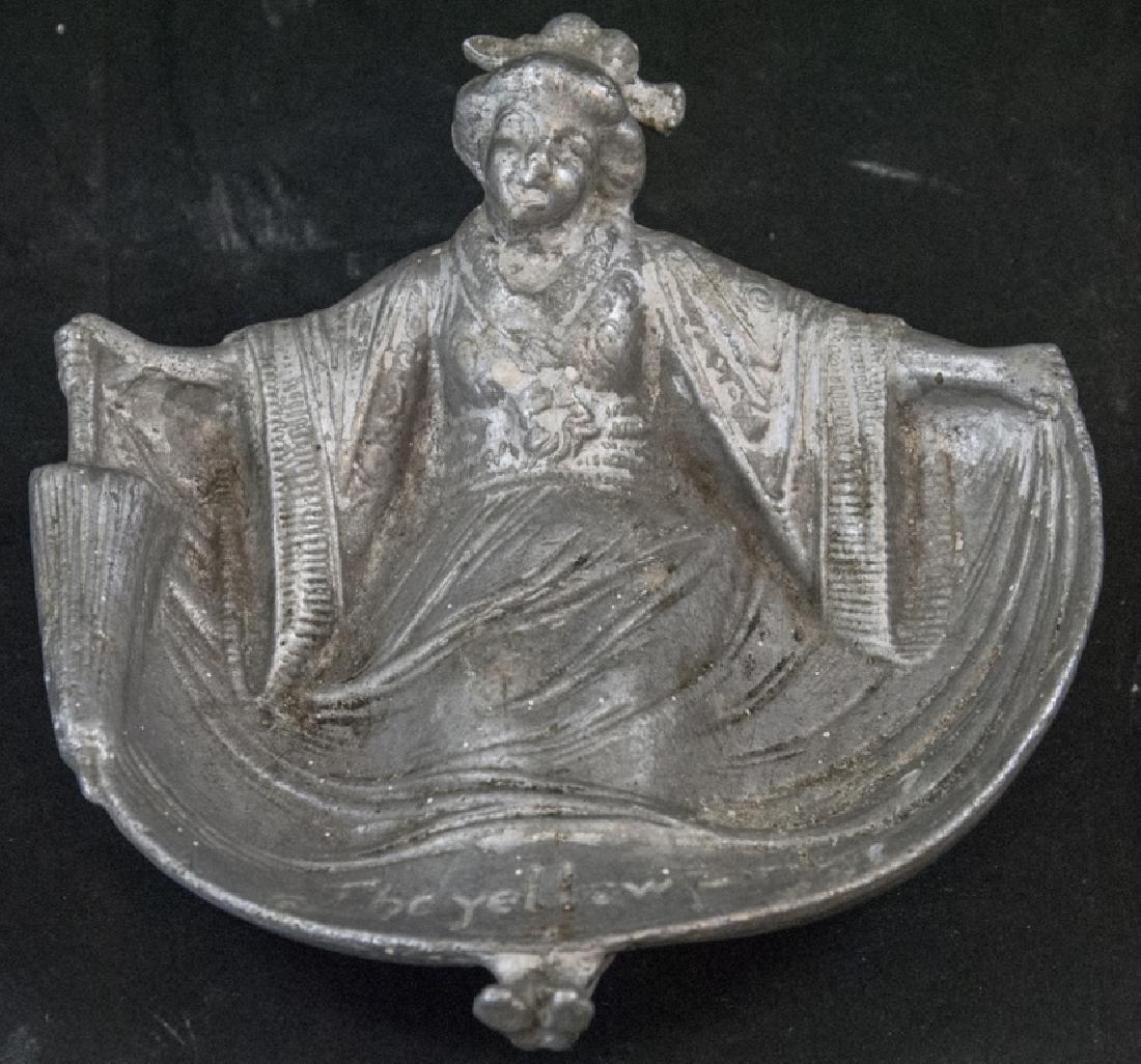 Antique Erotic Geisha Girl Dish / Ash Tray