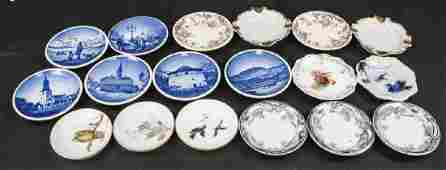 Lot Antique Miniature Porcelain Condiment Dishes