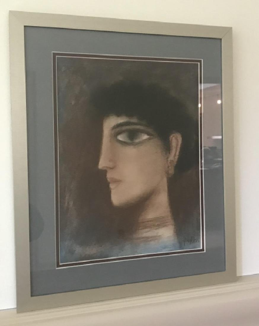 Modernist / Cubist Female Portrait Print Framed